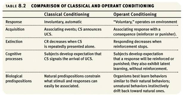 classical conditioning vs operant conditioning essay Classical vs operant conditioning essays: over 180,000 classical vs operant conditioning essays, classical vs operant conditioning term papers, classical vs.